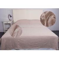 Jersey Oatmeal Modern Bedding Sets Comfortable With Single / Double Sleeping Bags