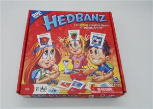 China HedBanz Popular Family Card Games , Funny Card Games For Large Groups on sale