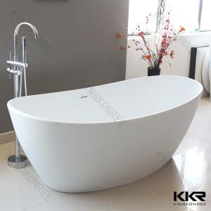 Acrylic Resin Solid Surface Bathtub Stone / Modern Stand Alone Baths
