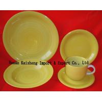 cheap colorful ceramic  dinner sets with hand brush glazed