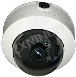 China Vandalproof Dome IR IP Network CCTV Camera With 4-9mm Zoom Lens, USB, POE Power Supply on sale