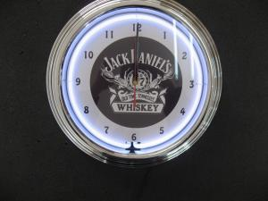 China Customized Dia 35cm Quartz Analog Neon Wall Clock with ABS / Plastic Frame on sale
