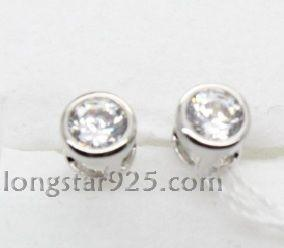China 925 sterling silver earring, pin earring on sale