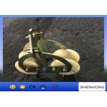 China 25KN Tandem Sheaves Conductor Stringing Blocks With Nylon Wheel wholesale