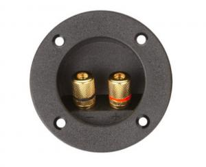 China Φ75mm Round Speaker Terminal Cup With Metal Binding Post Connectors on sale
