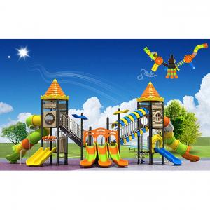 China Plastic Material Children Castle Play Game Equipment Outdoor Manufacturer Sale on sale