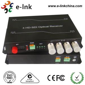China 4 Channel RS485 Reverse SDI To Fiber Optic Converter FC / SC PC Connector on sale