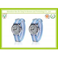 Quartz Stainless Steel Watch Water Resistant Nylon For Men