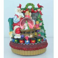 Resin christmas tree and father Water/Snow Globes music box with hand painting