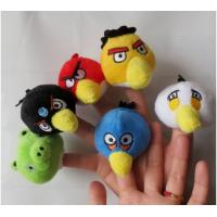 The Small Bird Plush Finger Puppets For Babies , Yellow / Red / Blue