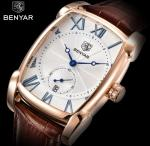Wholesale Benyar Men Genuine Leather Band Retro Casual and Business Quartz Wrist Watch BY-5114