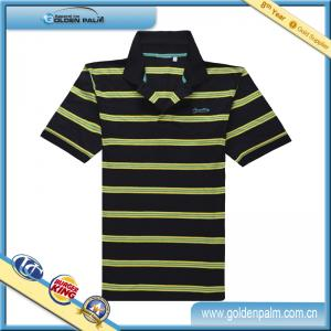 China 2014 fashion style mens stripe polo shirts/cheap polo shirts for men/color combination polo shirt on sale