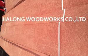 China Sliced Cut Natural Sapele Pommele Wood Veneer Sheet For Plywood on sale