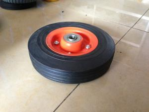 China 3.50-5 Rubber Powder Wheels , Flexible Wheelbarrow Wheels on sale
