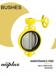 China Locking Lever Handle Butterfly Valve Bushing Fiberglass And 316 Stainless Steel With TFE Lining on sale
