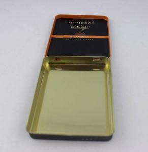 China Tinplate Black Cigarette Tin Box CYMK Printing Thickness 0.2mm on sale