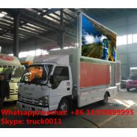 Isuzu LHD mobile digital LED advertising vehicle for sale, 2017s best price P6 ISUZU brand mobile LED billboard truck