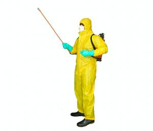 China Liquid Chemical Resistant Disposable Paint Suit Harbor Freight With Hood / Double Cuffs on sale