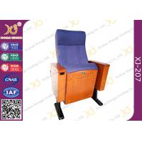 Wood Box Armrest Conference Hall Chairs With Foldable PU Foam Seat