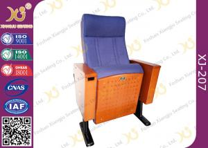 China Wood Box Armrest Conference Hall Chairs With Foldable PU Foam Seat on sale