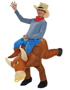 bull rider inflatable cowboy costume two pieces inflatable man costume