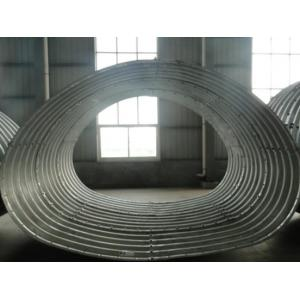 China Corrugated steel arch pipe on sale