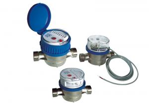 Quality Cold Brass Single Jet Water Meter Anti-magnetic For Household LXSC-15D~20D for sale