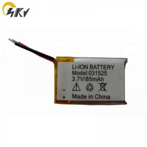 China High temperature black box li-ion polymer battery 031525 85mAh 3.7v lipo battery on sale