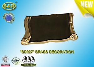 China REF. BD027 Brass Scroll Tombstone Decoration Material Copper Alloy Size 9×13 Cm on sale