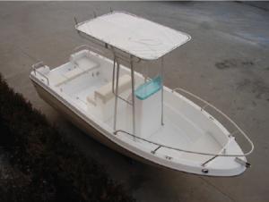 China FRP Hull Fiberglass Fishing Boats Fixed Canopy Small Fiberglass Boats For Tourist Business on sale