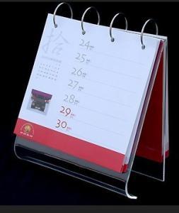 China A5 5mm Clear Acrylic Calendar Holder Display Rack Customized on sale