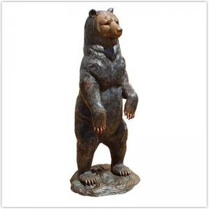 China Classical Cast Iron Garden Ornaments / Metal Outdoor Bear Statues on sale