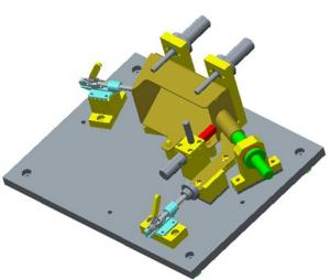 China Motor Bracket Machining Assembly Fixtures Components , Pneumatic Clamps Fixtures on sale