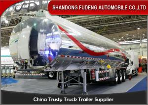 China 40cbm fuel tanker semi trailer , Stainless steel water tank semi trailer on sale
