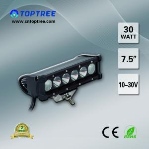 China 7.5'' Off Road LED Light Bar Single Row 4x4 Driving Light CE RoHs on sale
