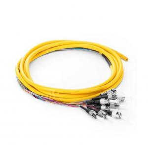 China FC/UPC 9/125 12 Fiber Optic Pigtail Single Mode With 0.9mm LSZH Jacket on sale