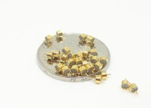 China Gold Plated Glass To Metal Seal Connectors Single Pin 50Ohm RF Feedthroughs on sale