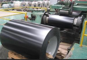 China Plain Black Colour Coated Galvanized Sheets HDP Coating Chemical Resistance on sale