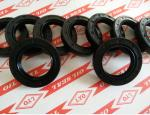 TC framework oil seal,model 30*46*8,NBR material,color is generally biack and brown.