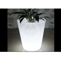 Modern Colored LED Flower Pots 16 Colors Changeable Energy Saving 2 Years Warranty