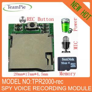 China Encrypted micro digital voice recorder module on sale