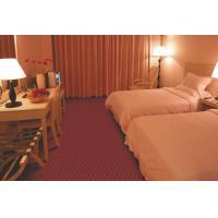 Red 100% Polypropylene Carpet Tiles / Rug For Hotel President Room