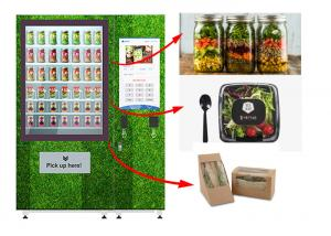 China Touch Screen Refrigerated Salad Vending Machine , Healthy Food Vending Locker With Lift on sale