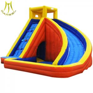 China Hansel wholesale commercial bouncy castles water slide manufacture in Guangzhou panyu on sale