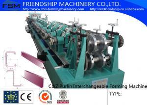 China Grande vitesse en acier galvanisée par machine de forme de roulement de Purlin de l'efficacité C Z on sale