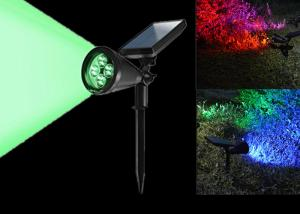 China 7 Colors Changing Solar LED Garden Lights , Solar Powered Led Pole Lights  on sale