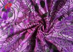 Pumpkin Printed Burnout Velvet Polyester Spandex Fabric For Christmas Dress