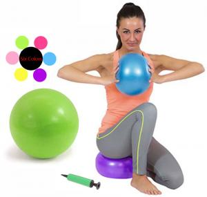 China Gym 75cm Exercise Ball Fitness Aerobic Yoga Core Balance Stability Ball Dual Action Pump on sale