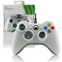 Wired Gamepad XBOX 360 Game Controller White Color Two Vibration Feedback Motors
