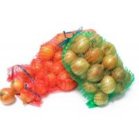 China Multi Colored Polypropylene Mesh Drawstring Bags / Mesh Fruit Bags For Packaging on sale